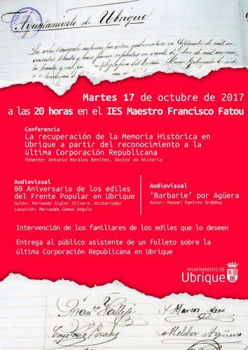 Cartel Conferencia Octubre 2017